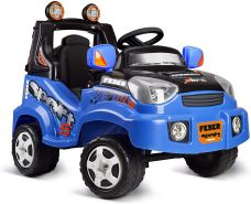 FEBER Famosa 800012225 - TT Sport - Elektro-Spielzeugauto, für Kinder von 2 bis 5 Jahren, 6V, blau