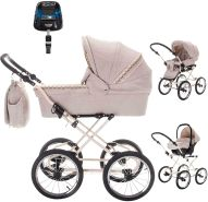 Friedrich Hugo Natureline Uni | 4 in 1 Kombi Kinderwagen | ISOFIX Set | Farbe: Hugo Creme