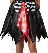 dressforfun 900354 - Mädchenkostüm Piratenprinzessin, ärmelloses Kleid mit angenähter Weste und mehrlagigem Rock aus Glanzstoff und Tüll (140 | Nr. 301749)