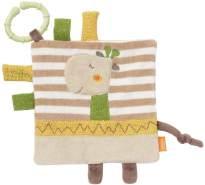 Fehn 059168 Knistertuch Giraffe mit Ring / Activity-Rascheltuch zum Aufhängen mit spannenden Strukturen zum Greifen & Geräusche erzeugen – für Babys und Kleinkinder ab 0+ Monaten, Mehrfarbig