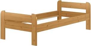 Erst-Holz Einzelbett 900x200 Kiefer Echtholz in Eicheton gebeizt , ohne Zubehör