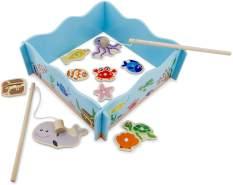 New Classic Toys Angelspiel Junior 24 x 24 cm Holz blau 13-teilig
