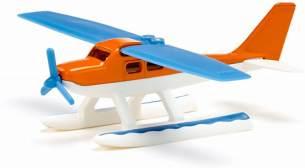 siku 1099, Wasserflugzeug, Metall/Kunststoff, Blau/Orange/Weiß, Einklappbare Flügel