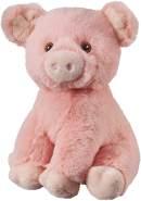 Bauer Spielwaren I Like My Planet - Schwein: Kuscheltier aus softem Plüsch, hergestellt aus recycelten PET-Flaschen, 100 % recycelt, sitzend, 20 cm, rosa (12932)