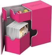 Ultimate Guard UGD010773 Box Flip´n´Tray Deck Hülle 80 Plus XenoSkin, Pink, Standardgröße