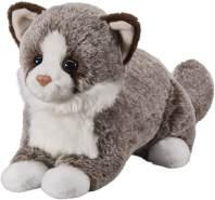 """Bauer Spielwaren """"Deine Tiere mit Herz"""" Katze: Liegendes Kuscheltier aus Softem Plüsch, Ideal zum Liebhaben und Verschenken, 25 cm, dunkelbraun (12510)"""