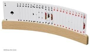 Philos 6693 - Spielkartenhalter, aus Holz