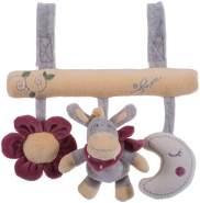 Bieco 02015077 Hängefiguren Universalhänger Esel Donkey Plüschanhänger für Babys und Kleinkinder grau