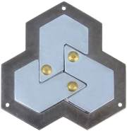 Huzzle Cast Hexagon Level 4 Metallpuzzle