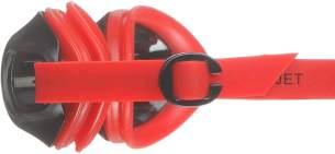 Speedo Jet Goggles, Lava Red/Smoke, Einheitsgröße