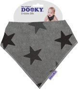 Dooky - Care 126916 Dribble Bib Grey Star, 20 g