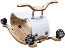 Unbekannt Wishbone 5008 - Schaukeltier und Rutschmobil, Flip 2 in 1, weiß