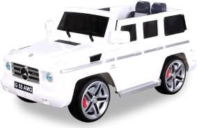 Kinder Elektro Auto MERCEDES G55 AMG Kinderauto Elektrofahrzeug Kinderfahrzeug (Weiß)