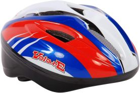 Kubbinga Kinder Volare Deluxe Bicycle-Skate Helm Einheitsgröße rot-weiß-blau