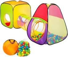 tectake pop Up Kinderspielzelt | Spielhaus mit Bällebad | inkl. 200 Bälle + Tasche | -diverse Modelle- (Typ 1 | Nr. 401028)