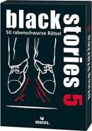 moses. black stories 5 | 50 rabenschwarze Rätsel | Das Krimi Kartenspiel