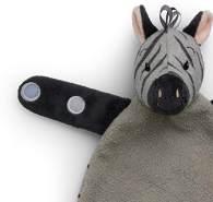 IBTT Schmusetuch Ziko, das Zebra [grau] (30cm)