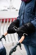 Eisbärchen Handwärmer Kinderwagenmuff Universalgröße (GS grau-schwarz)