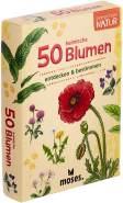 moses. Expedition Natur - 50 heimische Blumen | Bestimmungskarten im Set | Mit spannenden Quizfragen