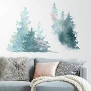 RoomMates - Aquarell Pinienbäume