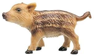 Bullyland 64396 - Spielfigur, Wildschwein Frischling, ca. 5 cm groß, liebevoll handbemalte Figur, PVC-frei, tolles Geschenk für Jungen und Mädchen zum fantasievollen Spielen