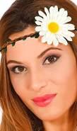 Generique - Geflochtenes Stirnband mit Blumen Erwachsene
