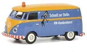 Schuco 452644600 - VW T1c Kundendienst, Kastenwagen, Modellauto, 1:87, blau/orange