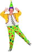 Boland 82226 - Kinderkostüm Clown Jimbo, grün 140