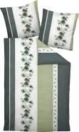 Janine Mako Soft Seersucker Bettwäsche 2 teilig Bettbezug 155 x 200 cm Kopfkissenbezug 80 x 80 cm Tango 20077-08 silber grün