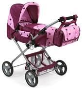 Bayer Chic 2000 586T78 Kombi-Puppenwagen Bambina, rosa