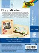 """Glorex Doppelkarten 10,5 x 15 cm"""" """"strohgelb, 5 Stück"""""""""""
