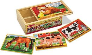 puzzles Bauernhoftiere Junior 15 x 20 cm 4 Stück