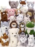Bauer Spielwaren I Like My Planet - Kuh: Kuscheltier aus softem Plüsch, hergestellt aus recycelten PET-Flaschen, 100 % recycelt, sitzend, 20 cm, weiß (12930)