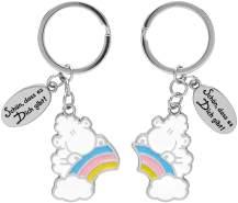 """Schlüsselanhänger für zwei, Regenbogen """"Schön, dass es Dich gibt!"""""""