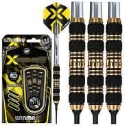 WINMAU Xtreme2-18 Gram Brass Dartpfeile Set mit Flights und Schäfte