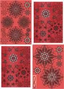 Ursus 33750000 - Glitterstern 3D Estelle, Material für 3 Sterne, rot