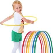 hoopomania® Kinder Hula Hoop Reifen, Durchmesser 80cm in gelb