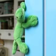 Schaffer 3548 Lizzy Gecko Plüschtier Magnet, grün, 11 cm