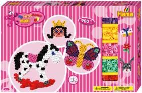 Hama 8713 - Gigantische Geschenkpackung, ca. 900 Maxi-Bügelperlen, 2 Stiftplatten und Zubehör