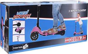 New Sports 3-Wheel Scooter Rosa, klappbar,110mm