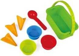 Hape E4057 - Eisdiele-Förmchen, Strandspielzeug/Sandspielzeug, mehrfarbig