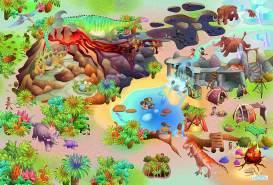 House Of Kids 11237-E3 - Playmat Quadri Dinosaures Connect, 100 x 150 cm