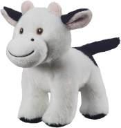 Bauer Spielwaren I Like My Planet - Kuh: Kuscheltier aus softem Plüsch, hergestellt aus recycelten PET-Flaschen, 100 % recycelt, stehend, 15 cm, weiß (12919)