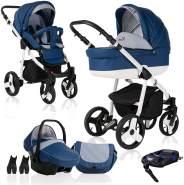 Bebebi Fizzy | ISOFIX Basis & Autositz | 4 in 1 Kombi Kinderwagen | Farbe: Marine Luft