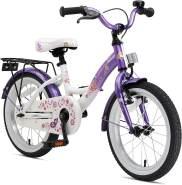 Kinderfahrrad Bikestar 16 Zoll - Classic Candy Lila & Diamant Weiß