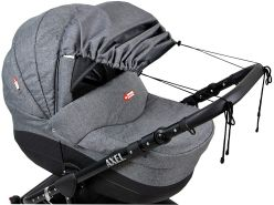 BABYLUX Sonnenschutz SONNENSEGEL für Kinderwagen Buggy UV Schütz (55. Grey Flex)
