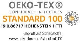AM Qualitätsmatratzen - Bonellfederkernmatratze 100x200 cm H3 / H4-19cm Höhe - Made in Germany - Hochwertiger Bezug aus Doppeltuch mit versteppter Klimafaser (200g/ m²)