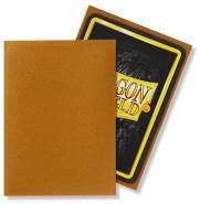 Dragon Shield Matte, Gold Kartenfolien Kartenhüllen Sleeves - für Sammelkarten wie Pokemon Magic - Standardgröße