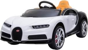 ES-Toys Kinder Elektroauto Bugatti Chiron EVA-Reifen Ledersitz Fernbedienung