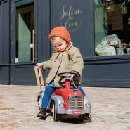 Baghera Speedster Feuerwehr | Rutschfahrzeug Feuerwehrauto für Kinder mit zahlreichen lebensechten Details | Rutschauto für Kinder ab 1 Jahr